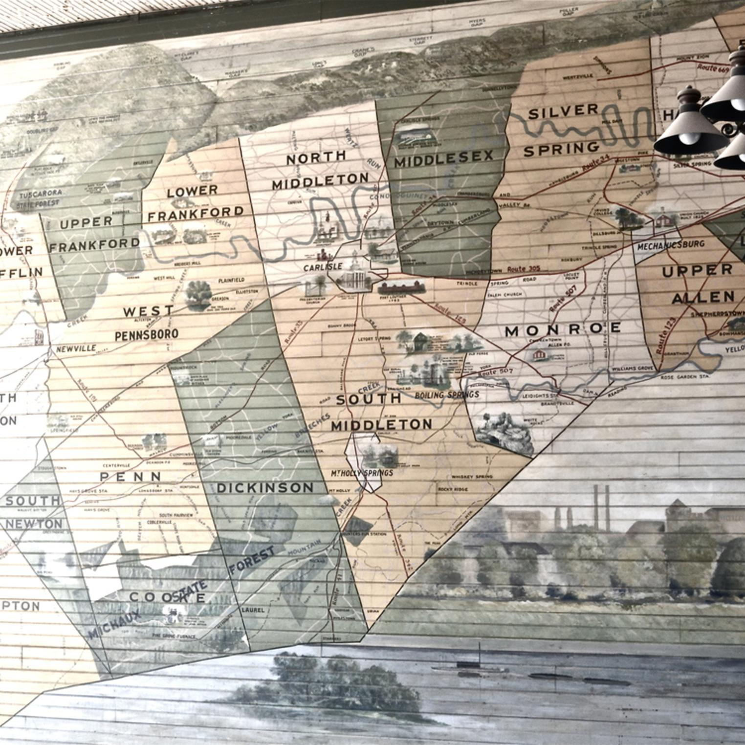 Allenberry Resort Map Mural