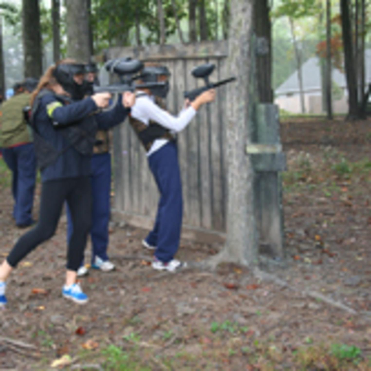 Girls play Paintball too in Central PA at Roundtop Mountain Resort