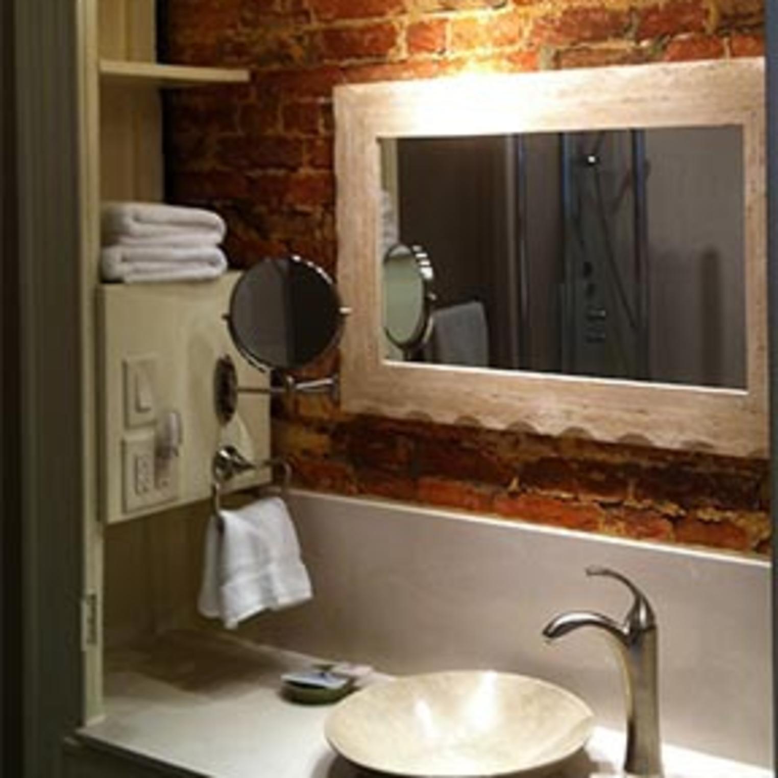 The elegant Anna Woods Suite main bathroom