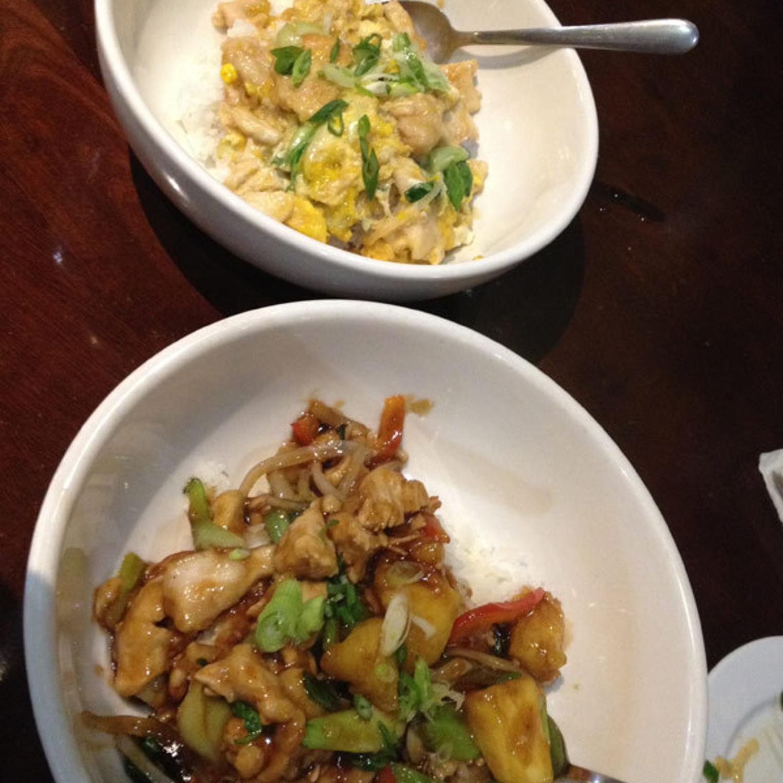 Two Don Buri Bowls at Issei Noodle