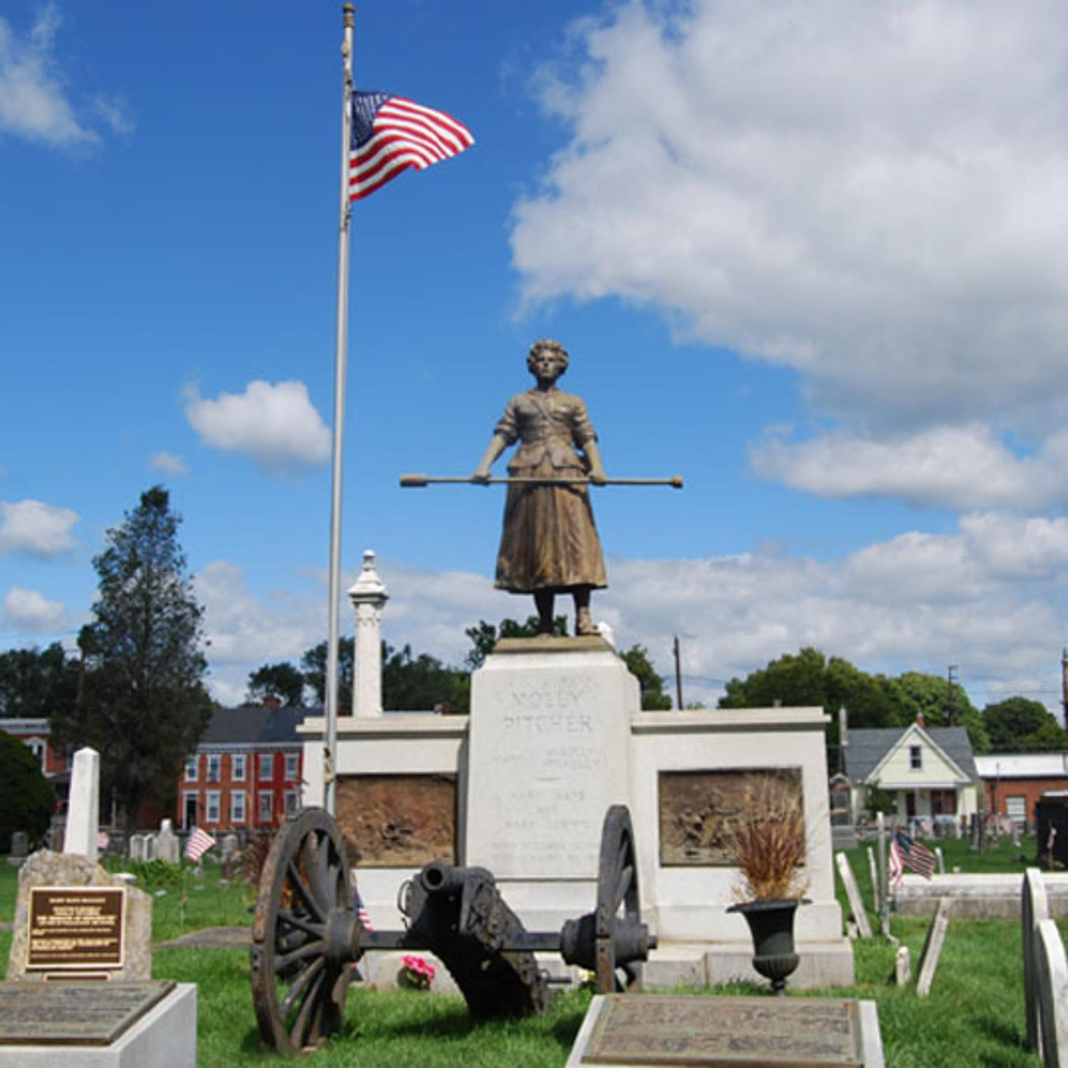 Molly Pitcher Statue at the Old Public Graveyard