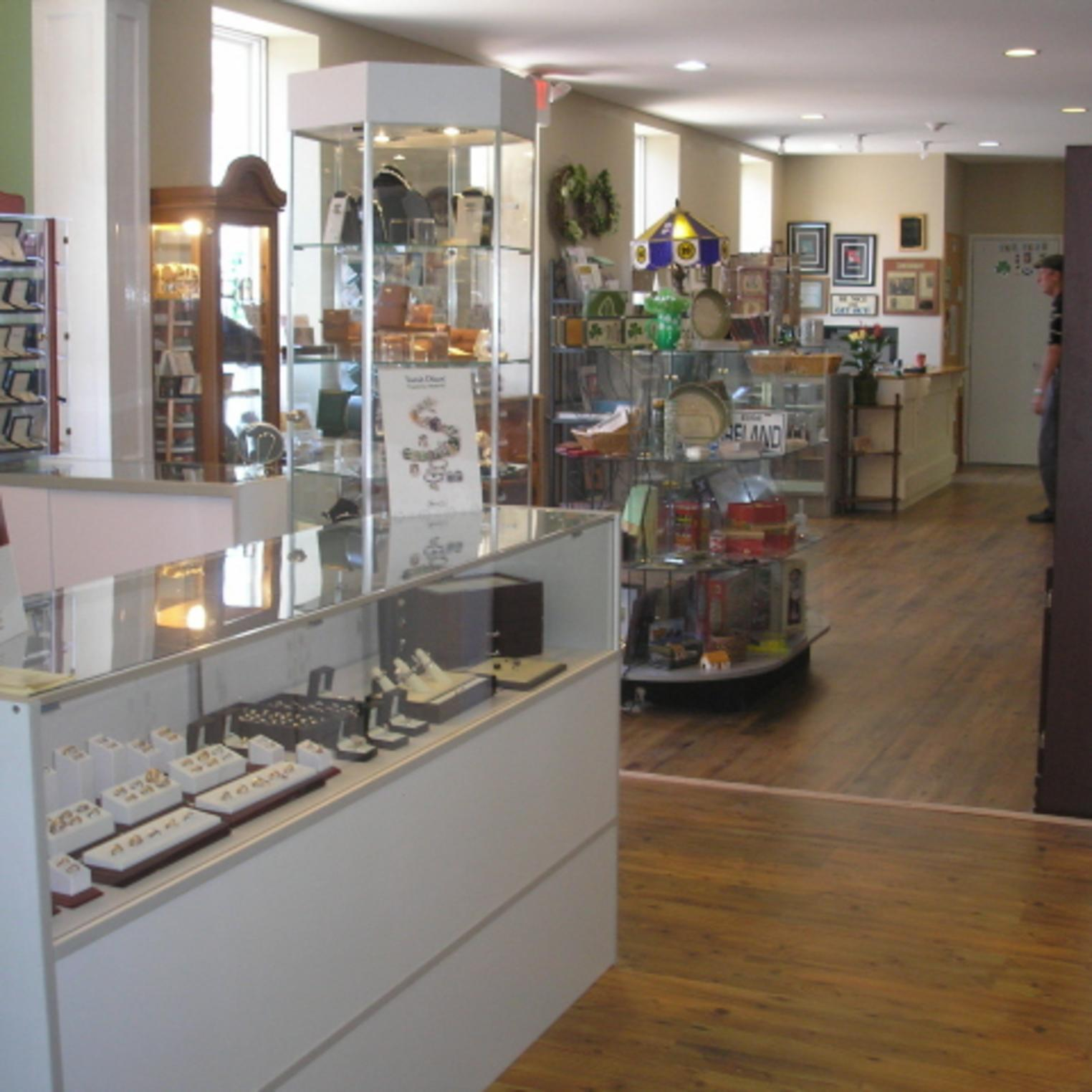 Main gift shop and jewelry room at Oxford Hall