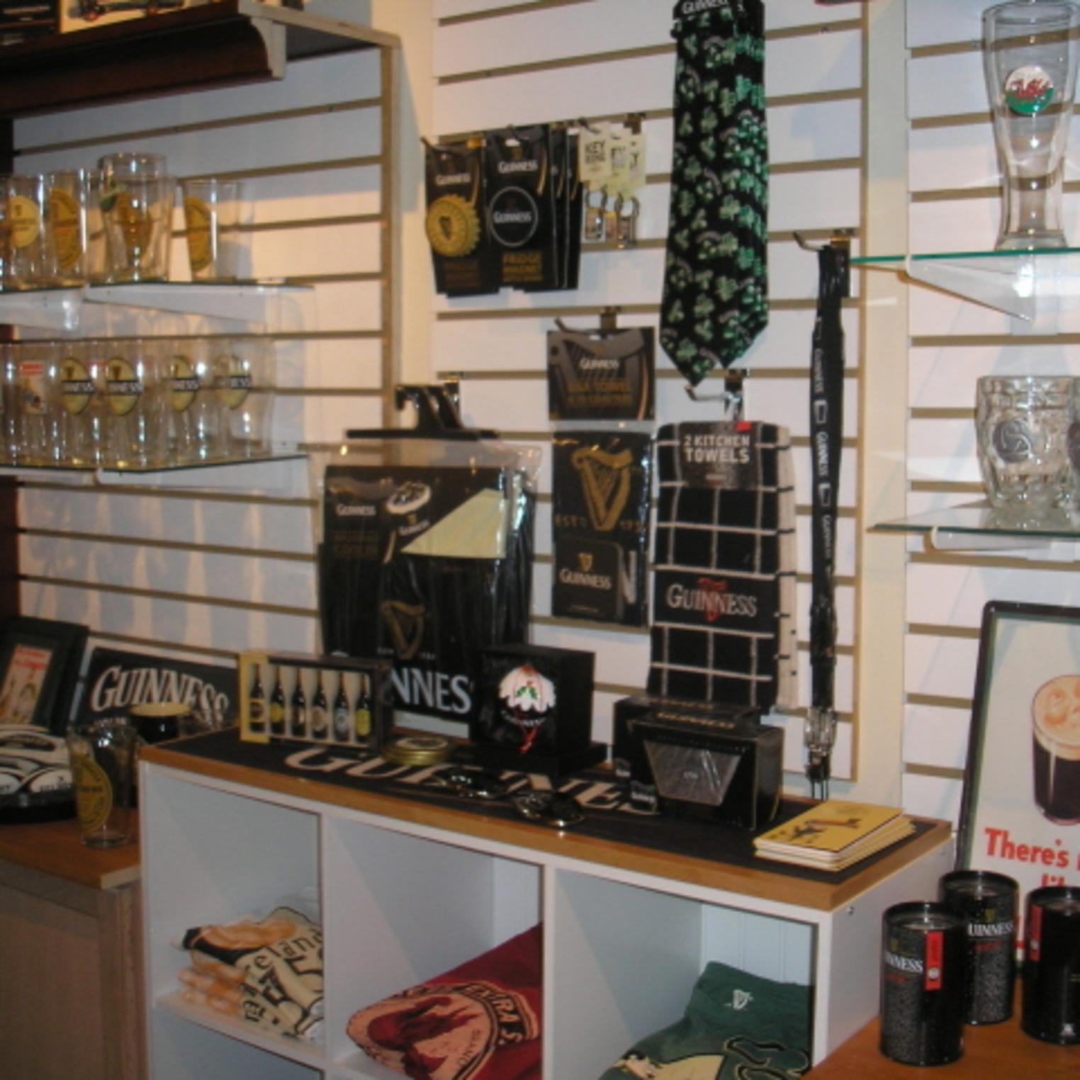 Guinness Merchandise at Oxford Hall Celtic Shop