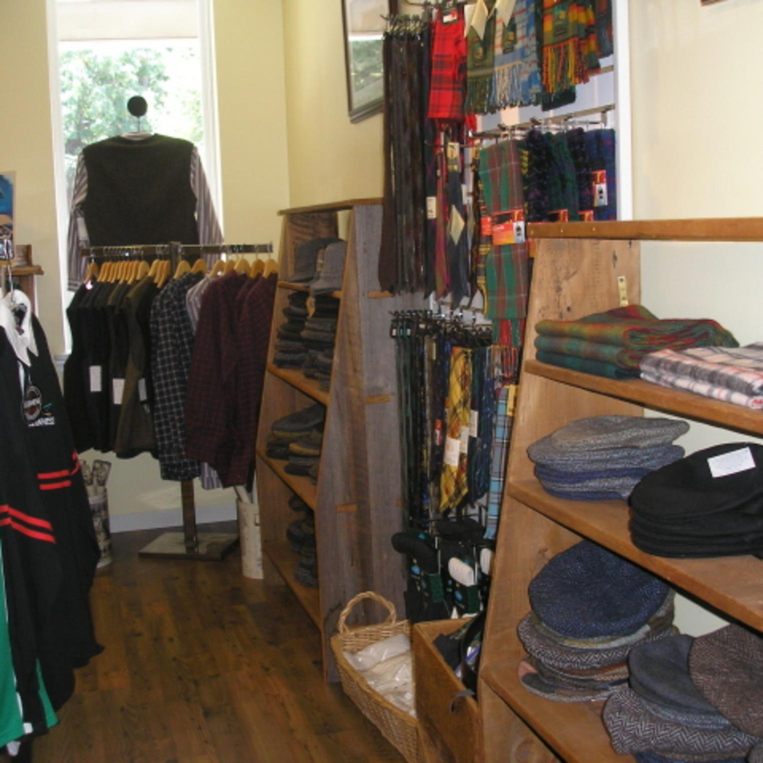 Oxford Hall is proud to offer woolens, sweaters and caps from Ireland and the UK