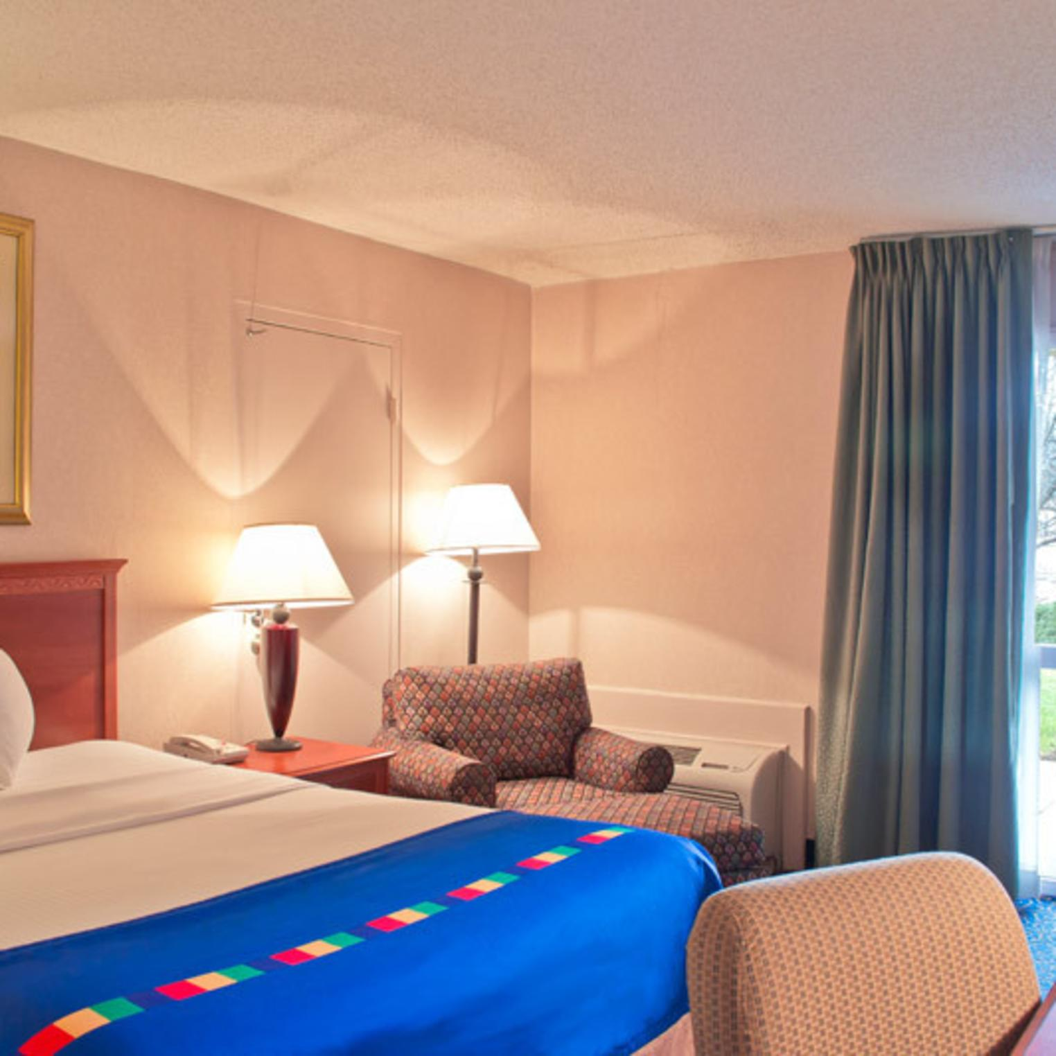 Comfortable rooms at the Park Inn.