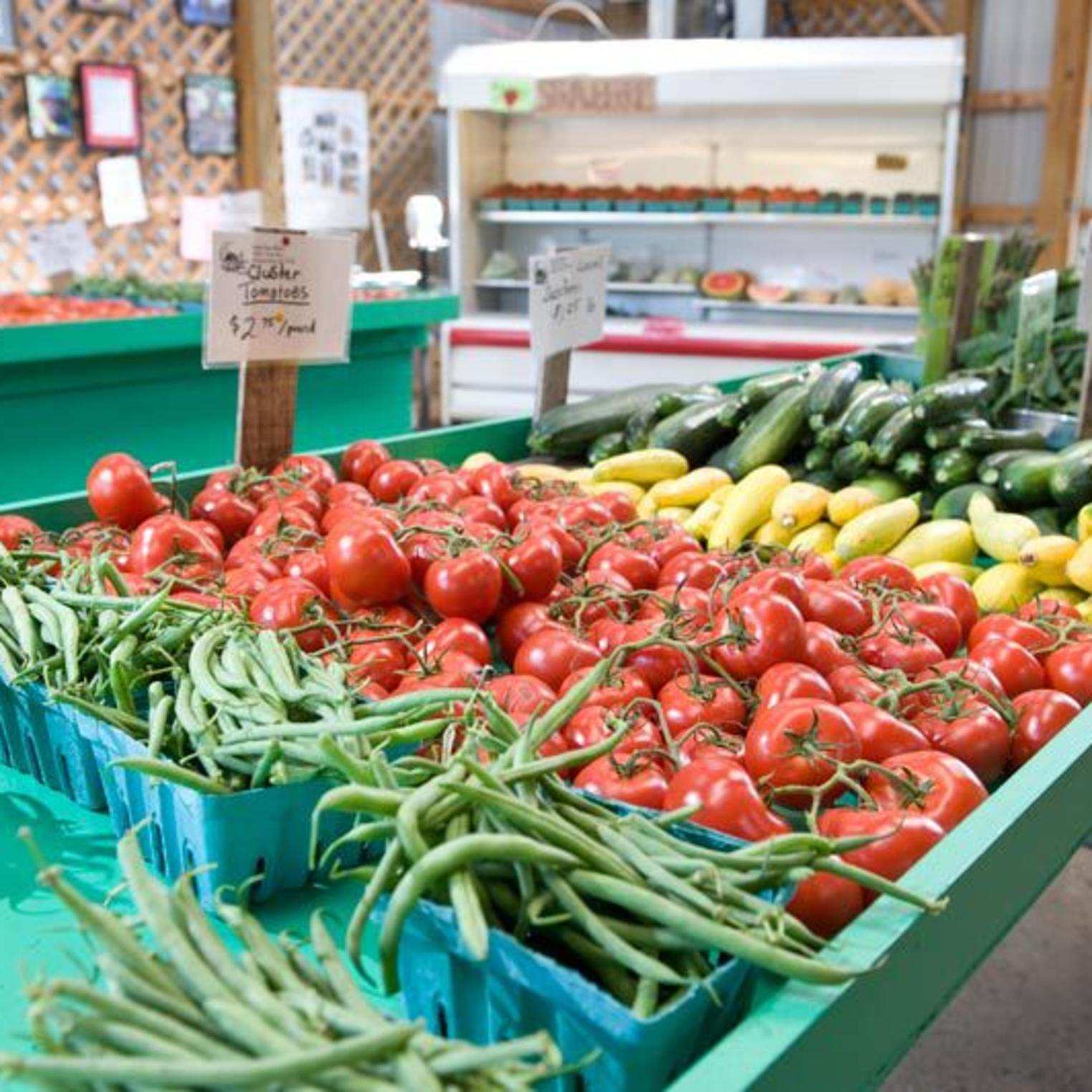 Produce at Paulus Farm Market