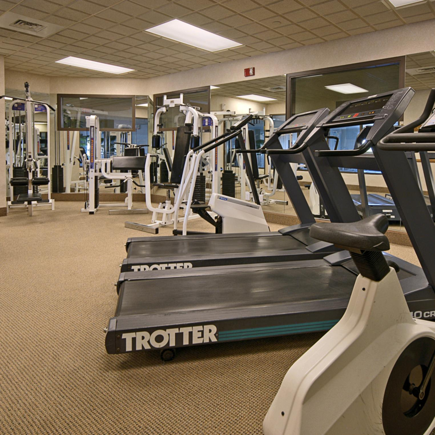 Stay on track with your exercise routine with our modern fitness center.