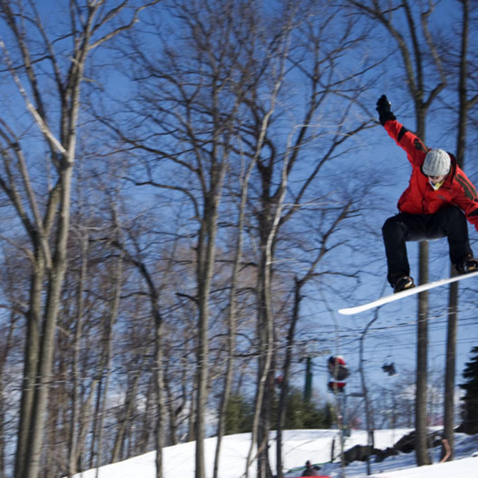 Zip down the slopes at nearby Roundtop Mountain Resort