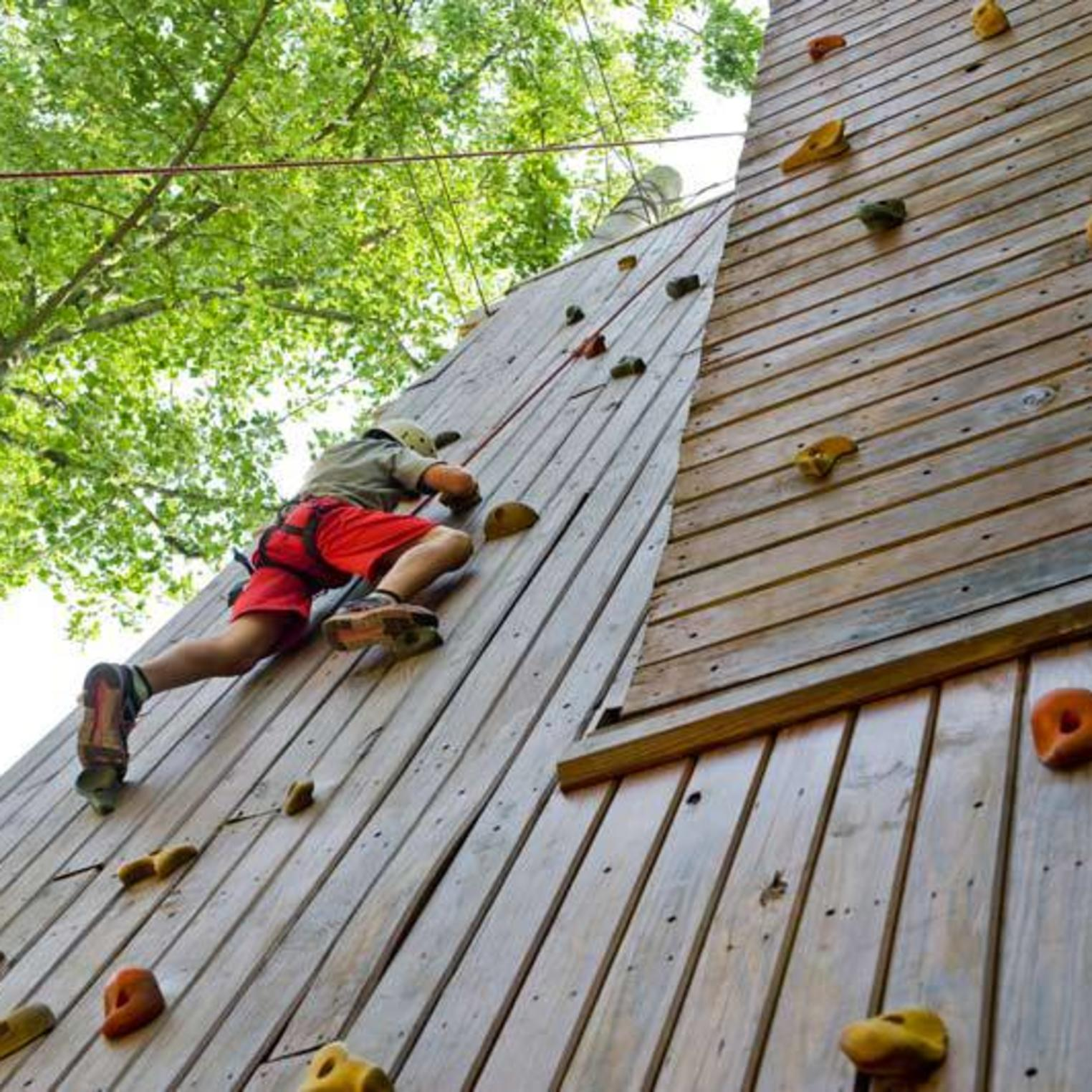 Climbing Wall at Roundtop Resort
