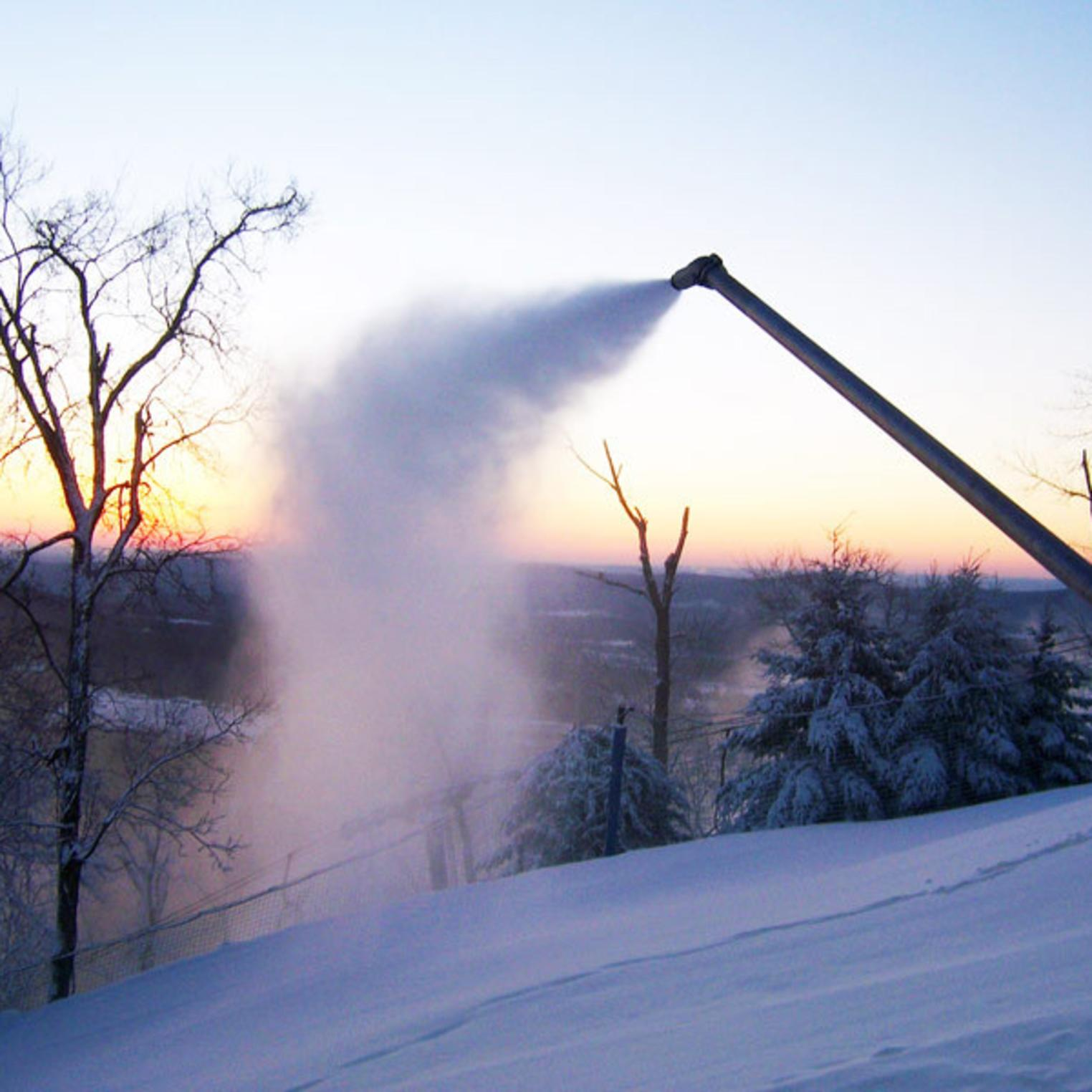 Making Snow at Roundtop Mountain Resort