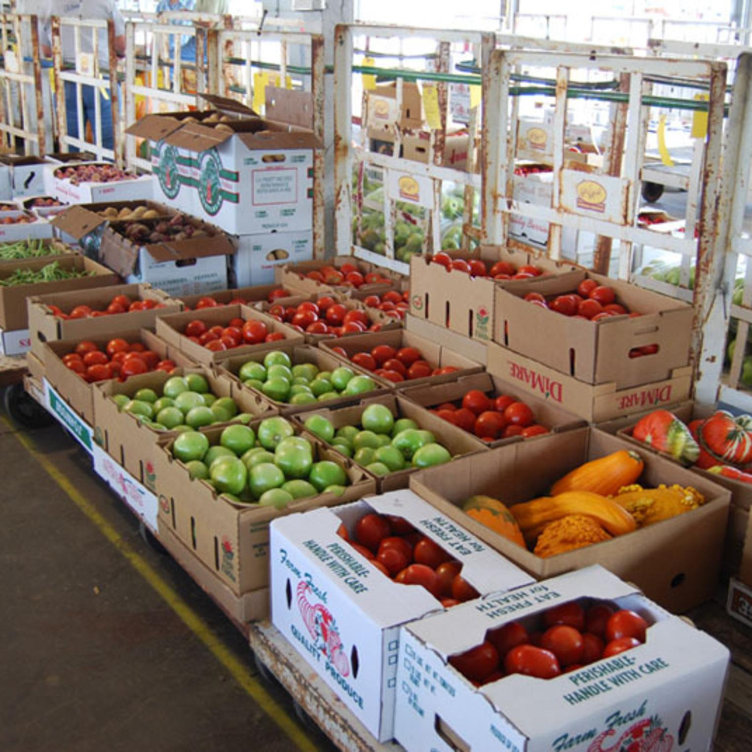 Produce at Shippensburg Auction Center