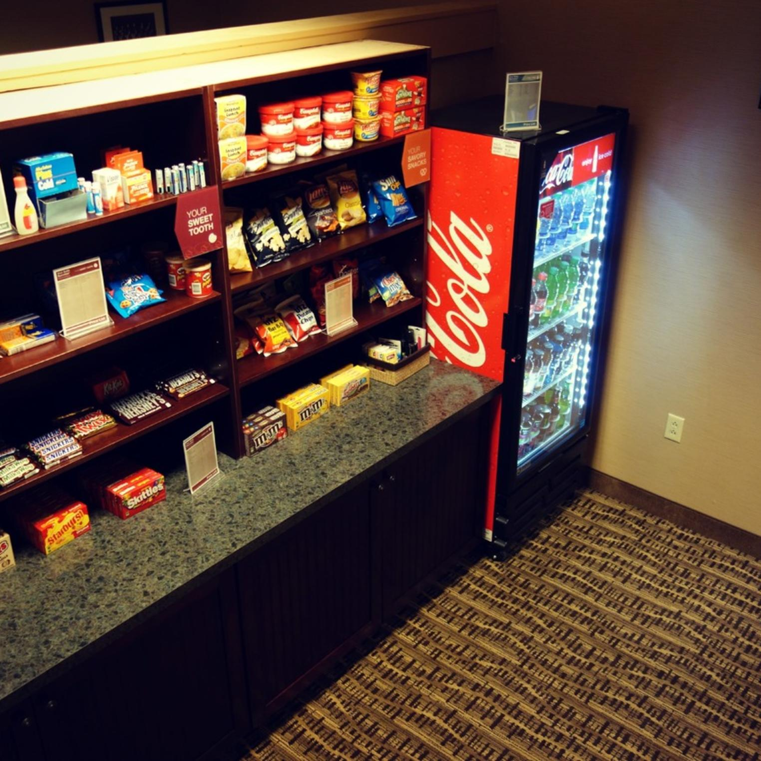 Our sundry shop has the essentials and a variety of snacks and beverages.