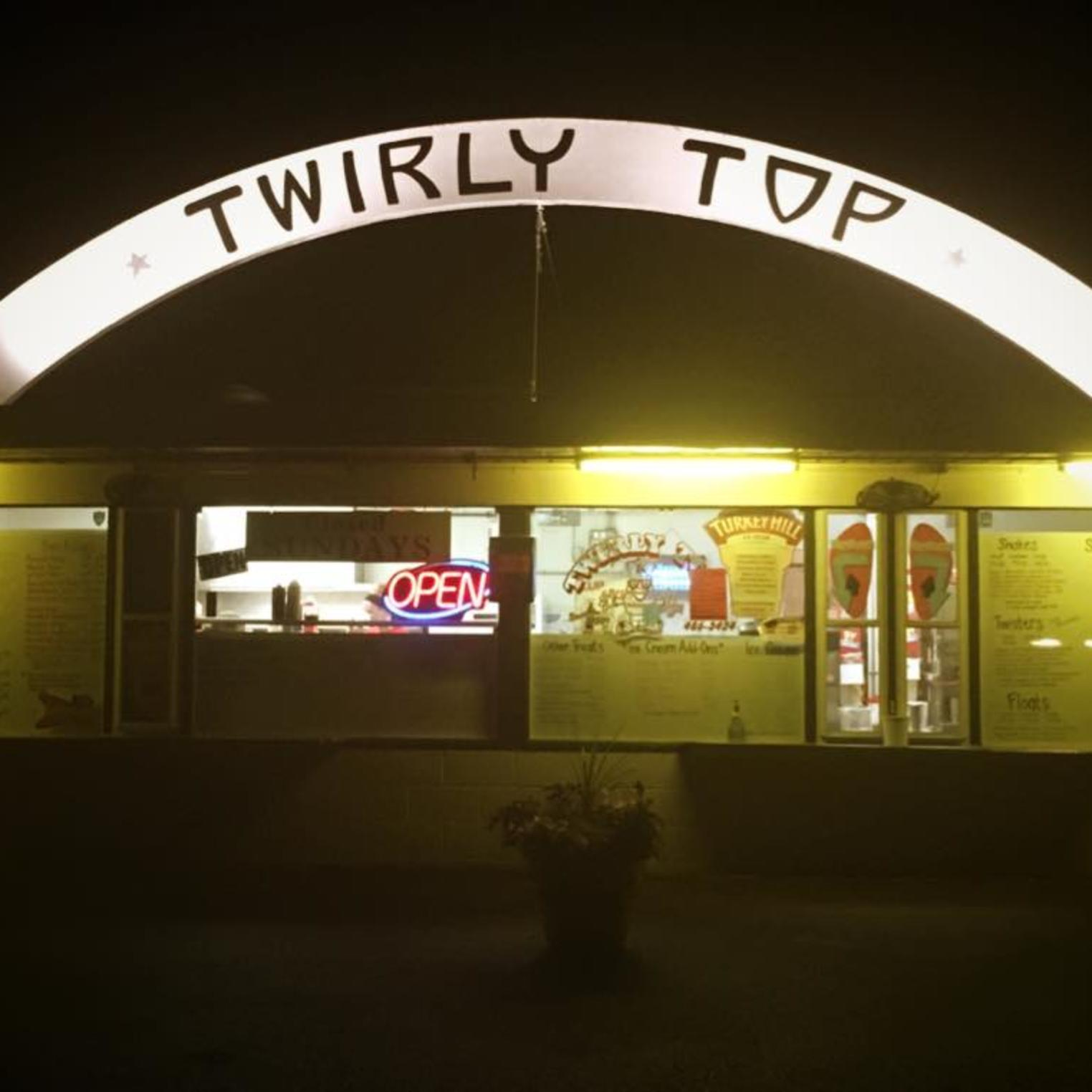 Twirly Top Arch at Night