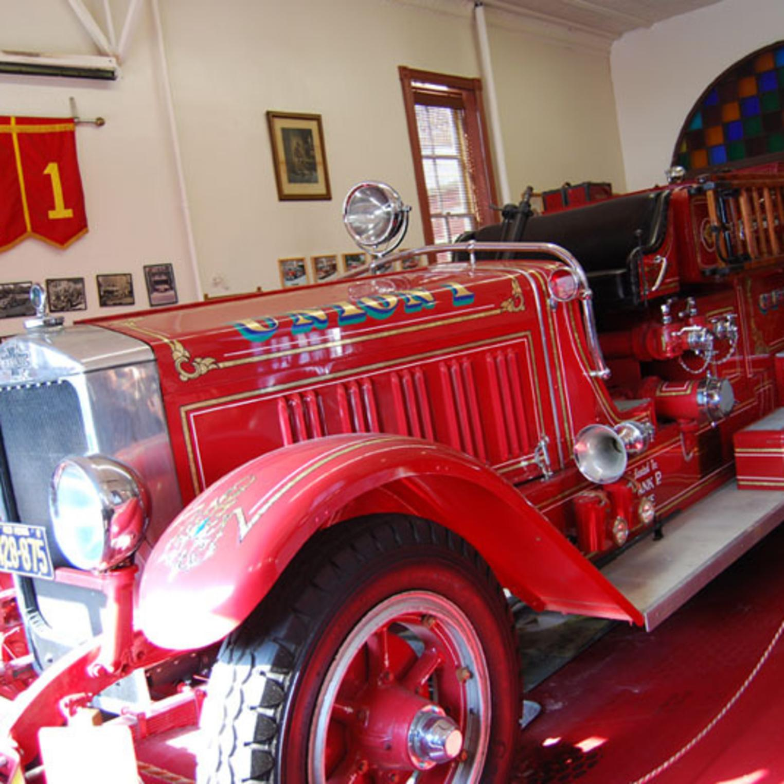 Firetruck at the Union Fire Company No. 1 Museum