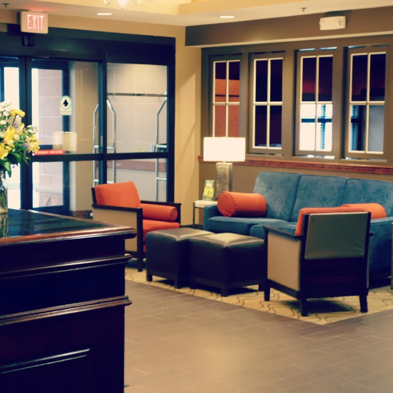 Our newly renovated lobby welcoming guests.