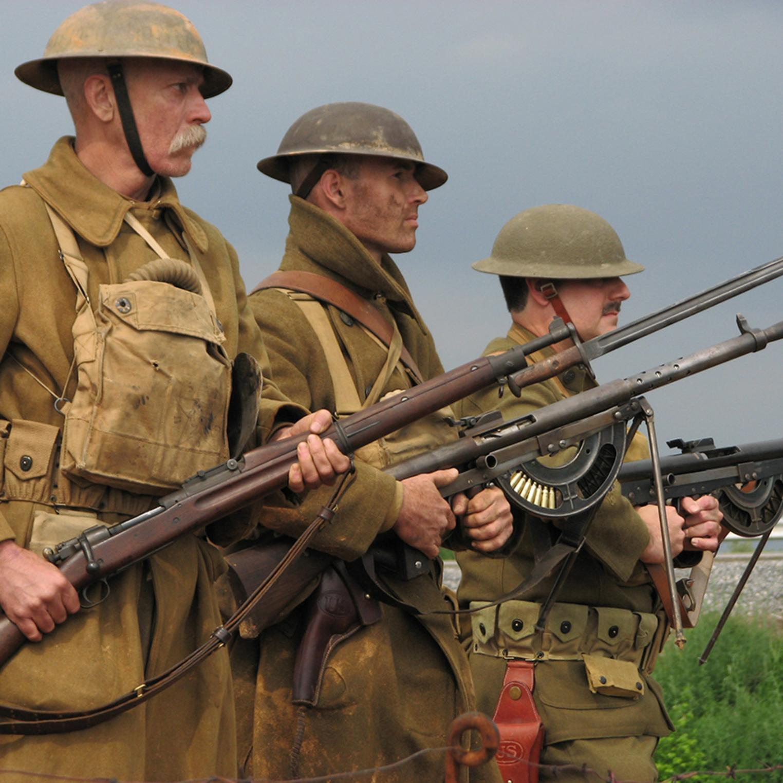 WWI re-enactors at USAHEC