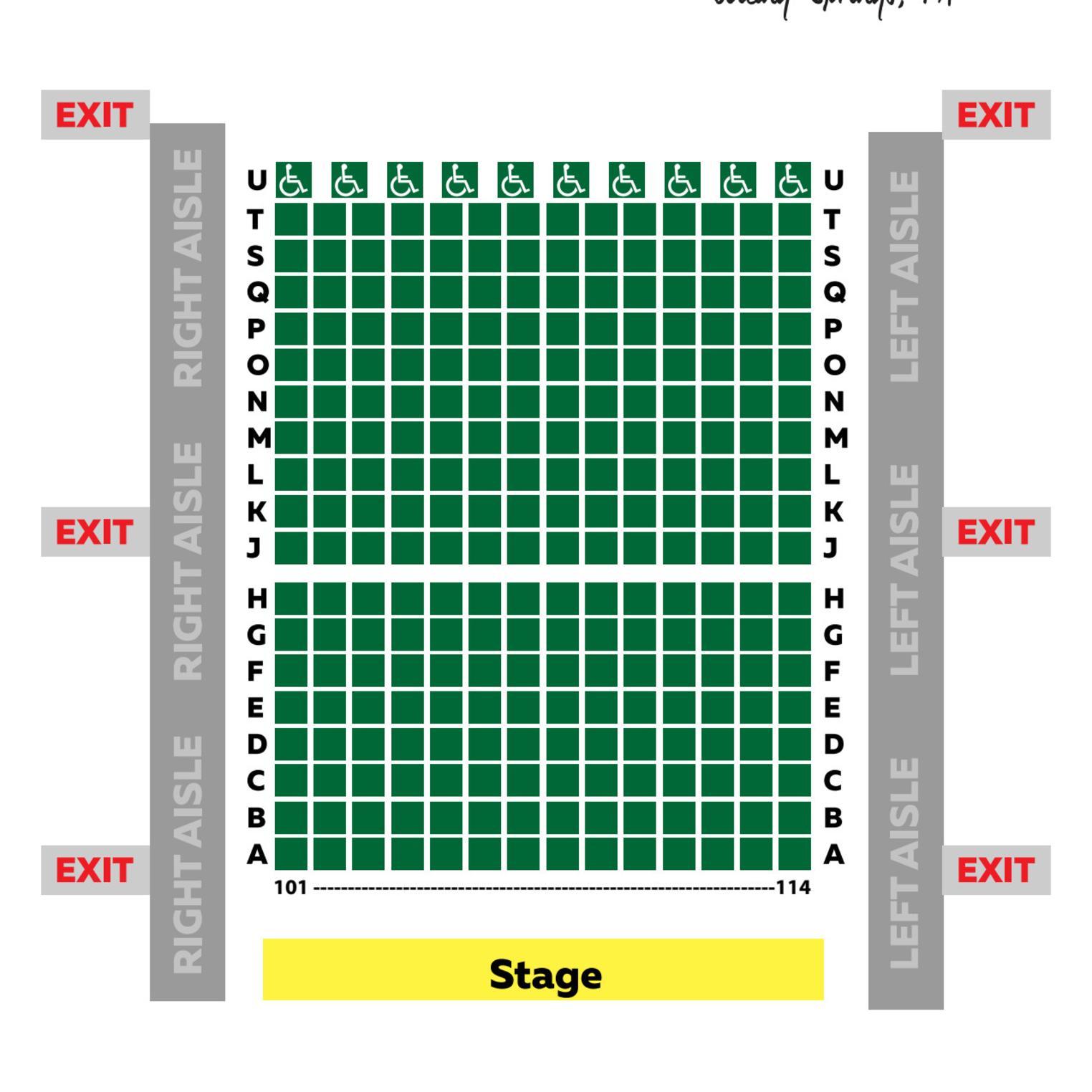 Playhouse Seating Chart
