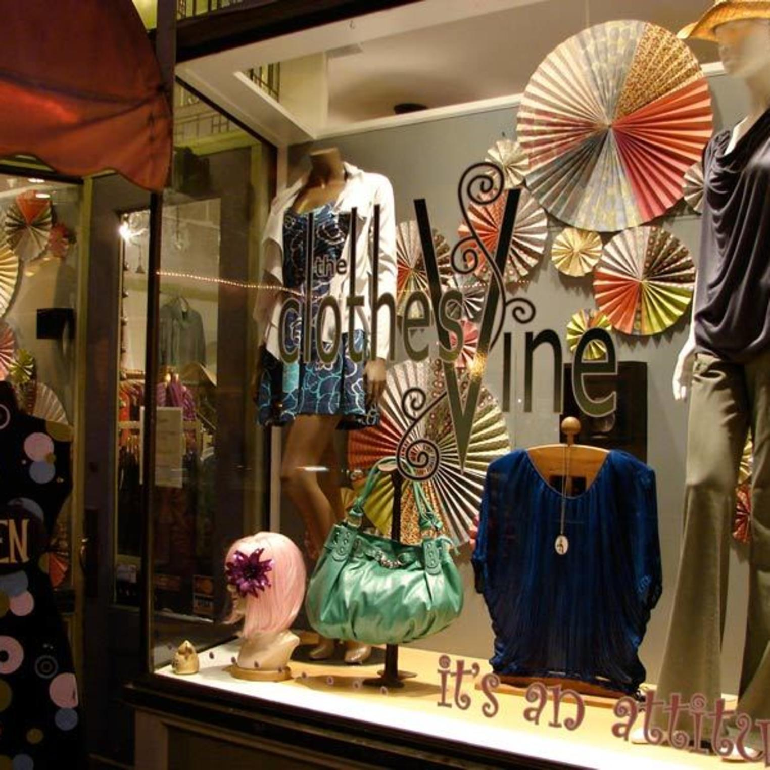 ClothesVine Display Window