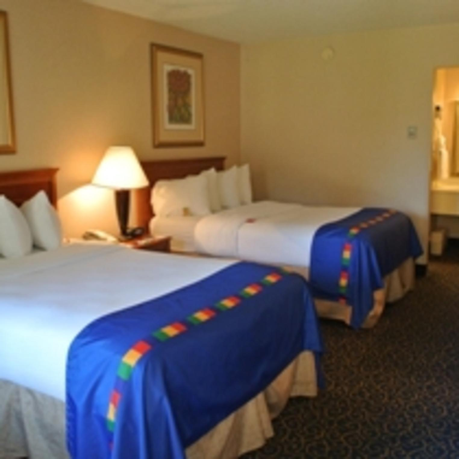 Double bedded sleeping room