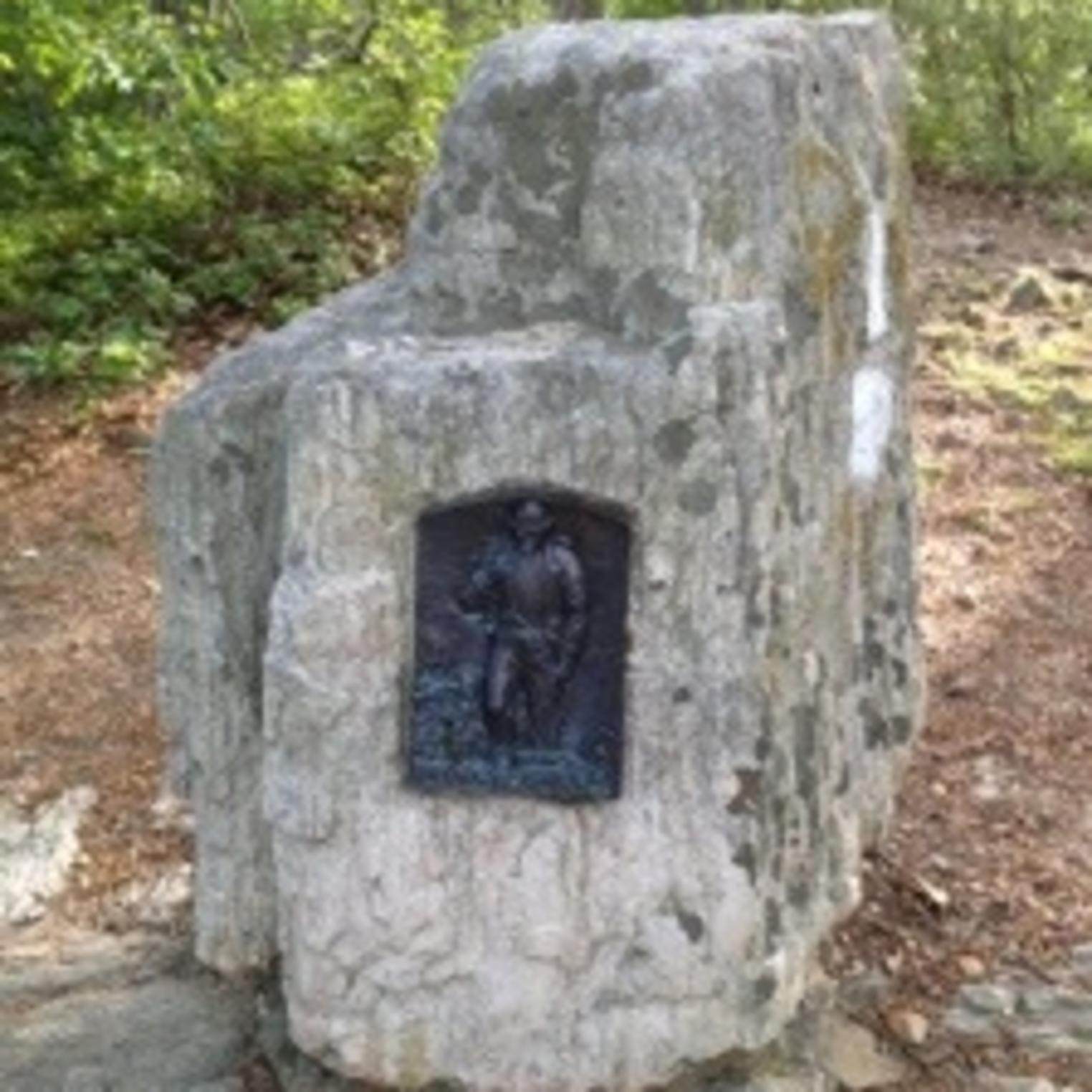 Plaque at Center Point Knob