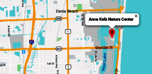 Map to Anne Kolb Nature Center in Hollywood, FL.