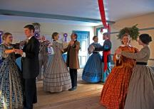 Yuletide became an occasion for parties and dances in the 19th century.