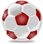 Soccer Ball Red