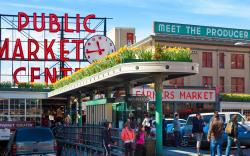 Pike Place Market with Daffodils