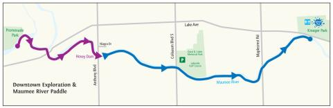 Maumee River Downtown Water Trail Itinerary