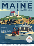 2020 Maine Invites you Cover Boat on water near lighthouse