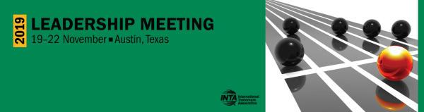 logo for INTA 2019 Leadership Meeting in austin texas