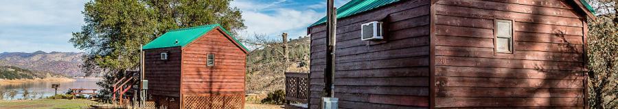 cabins at Pleasure Cove in Lake Berryessa