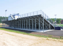 Leg truss bleachers