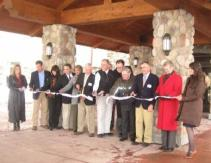 Ribbon Cutting at the Grand Opening of the Tamarack Club at Holiday Valley.