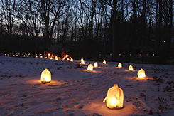 Aullwood Winter Luminary Walk