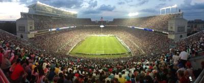 Soccer stadium aerial