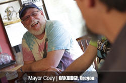 Mayor Coey of Oakridge