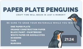 Ripley's Aquarium Crafts: Paper Plate Penguins