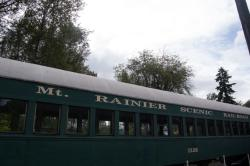 Mt. Rainier Scenic Railroad train