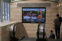 2017 Summer Marketing Campaign - NY Penn Station Digital Wall - Pocono Mountains Visitors Bureau