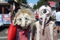 Scandinavian Festival Trolls by Lisa Lawton
