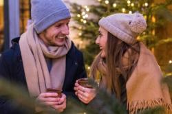Couple celebrating the holidays