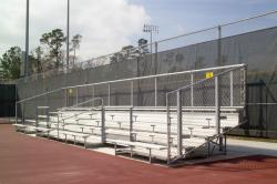 Tennis bleacher example
