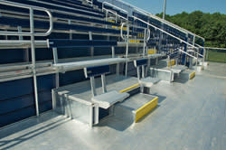 Wheelchair accessible bleachers