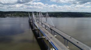 Governor Mario M. Cuomo Bridge with blue path