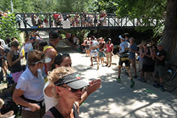 Ironman spectators