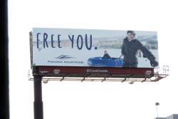 2017 Winter Marketing Campaign - Billboard - Pocono Mountains Visitors Bureau
