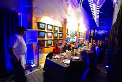 """Salty's """"Belly of the Whale"""" Dinner at the MaST Center Aquarium"""