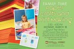 Family Time: Paper Crafts and Printmaking