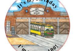 Fort Collins Trolley, birney car #21 100th Birthday Party